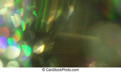 Colorful futuristic bokeh, spectral futuristic colors,...