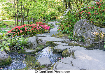 Colorful Garden And Stream 3