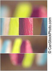 Colorful garden fence - 4 divider