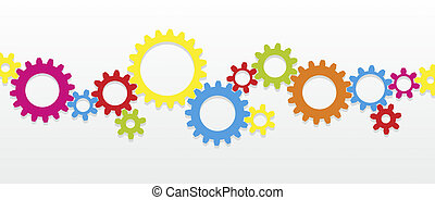 gear - colorful gear wheels as a design template