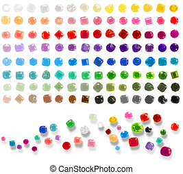 Colorful Gems - Illustration of a valuable collection of...