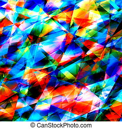 Colorful Geometric Art Background.