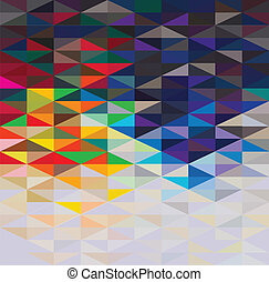 colorful geometric background, vector illustration