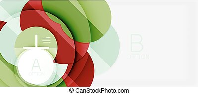Colorful geometric circle modern abstract background