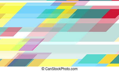 Colorful geometric minimal tech video animation - Colorful...