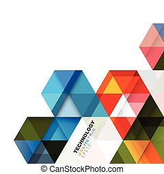 Colorful geometric modern template for business or technology presentation. Abstract transparent overlapping geometric on white. Online presentation website element and space for your text, vector illustration