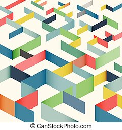 colorful geometric pattern background, vector illustration