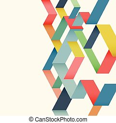 colorful geometric template background, vector illustration