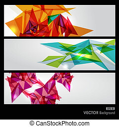 Colorful geometric transparency. - Modern colorful...