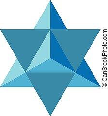 Colorful geometrical figure Vector illustration: Davids Star
