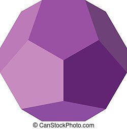 Colorful geometrical figure Vector illustration: Dodecahedron