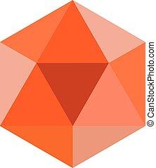 Colorful geometrical figure Vector illustration: Icosahedron