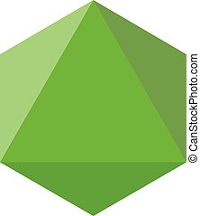 Colorful geometrical figure Vector illustration: Octahedron