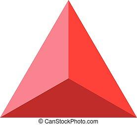 Colorful geometrical figure Vector illustration: Pyramid