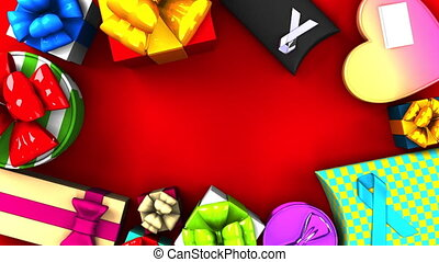 Colorful Gift Boxes.