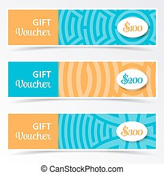 Colorful gift voucher templates
