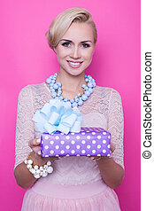 Colorful gift. Women