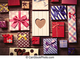 colorful gifts on the table
