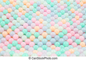 Colorful glass beads background, Close up