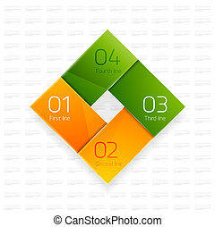 Colorful glass happy modern design template