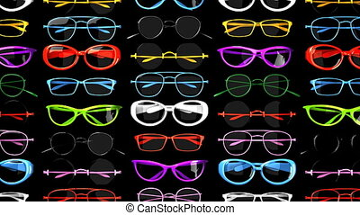 Colorful glasses.