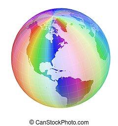 colorful globe frame