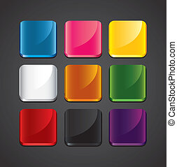 colorful glossy backgrounds for app icons