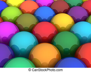 Colorful glossy balls