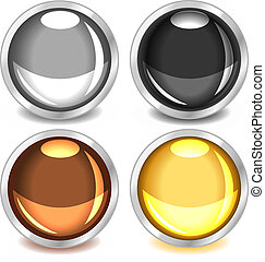 Colorful glossy buttons-set2