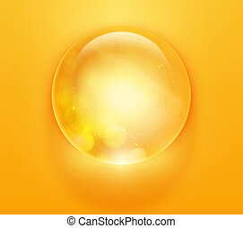 colorful glossy sphere. vector orb