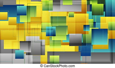 Colorful glossy squares abstract technology motion ...