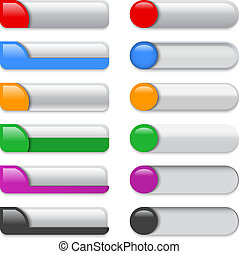 Colorful glossy templates