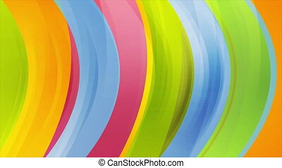 Colorful glossy waves abstract motion background. Seamless ...