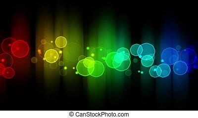 colorful glowing bokeh lights loop background