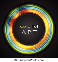 Colorful glowing circle vector logo