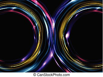 Colorful glowing electric neon abstract background