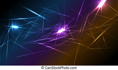 Colorful glowing laser beams lines motion design - Colorful...