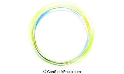 Colorful glowing neon circles video animation