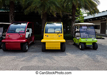 Colorful Golf Cart