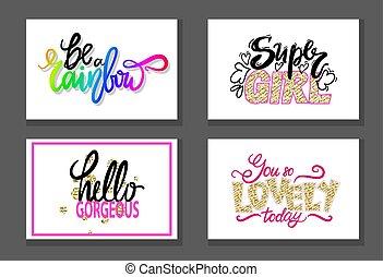 Colorful Graffiti Fonts Vector Illustration Slogan -...