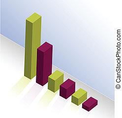 Colorful graph illustration design