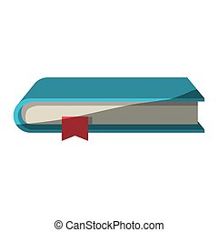 colorful graphic of book with bookmark without contour and...