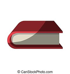 colorful graphic of thick book without contour and half...