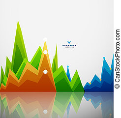 Colorful graphs background