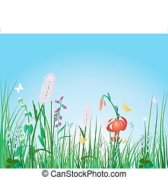 colorful grass background