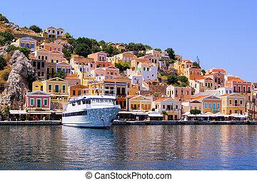 Colorful Greek islands