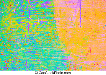 Colorful green ,orange abstract background