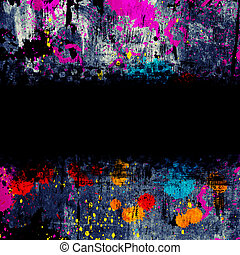 colorful grunge background with stains of paint