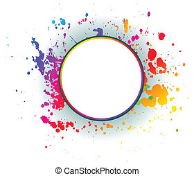 Colorful grunge backgrounds. - Abstract grunge spectrum...