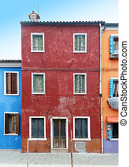 Colorful grunge facades